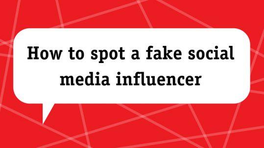 spot a fake social media influencer