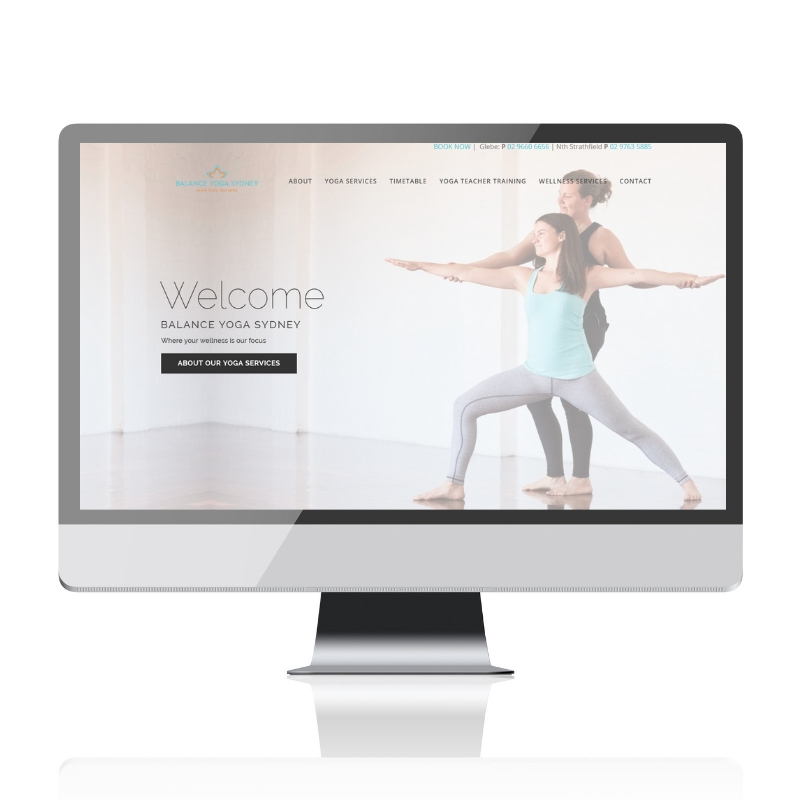 Balance Yoga Sydney Website