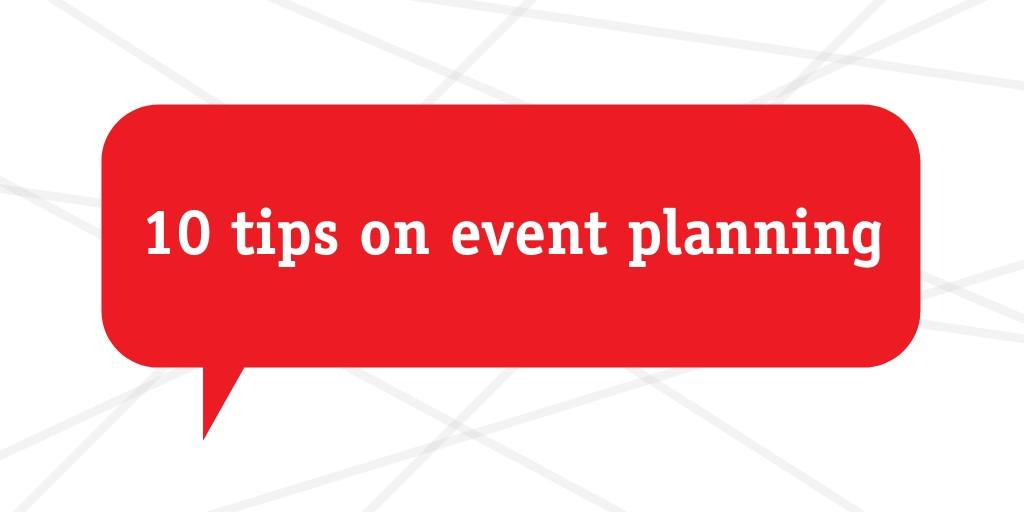 10 tips on event planning